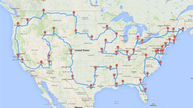 Road Trip Map_33772