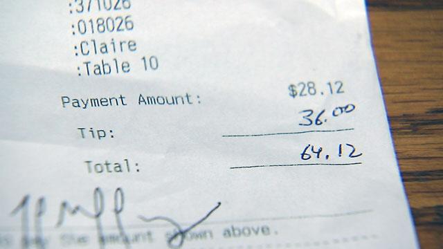 Waitress tip_32614