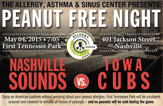 Nashville Sounds peanut-free night 2015_45794