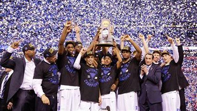Duke wins the 2015 NCAA Basketball Tournament_39666