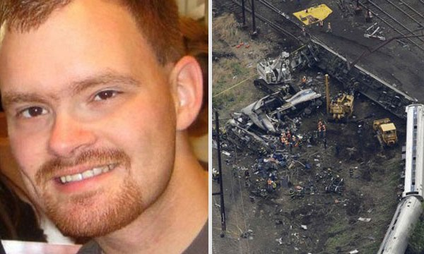 Amtrak engineer Brandon Bostian and wreckage_50662