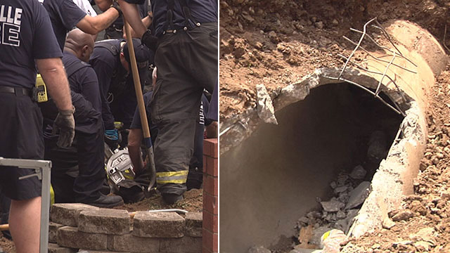 Man stuck in storm drain_51671