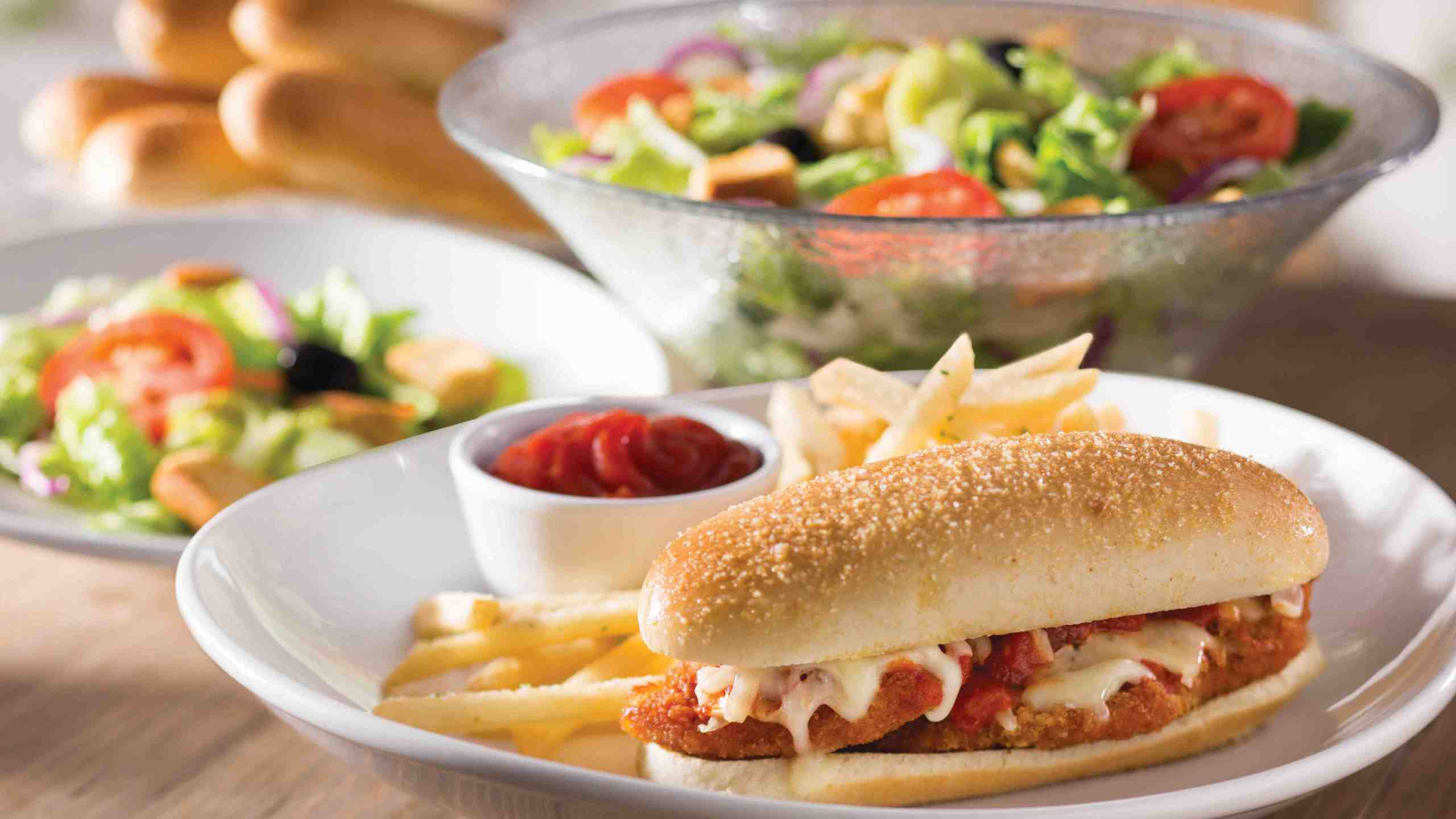 Olive Garden Adds Breadstick Bun Sandwiches To Menu