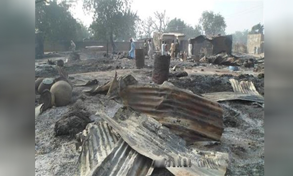 Boko Haram burns village_253698
