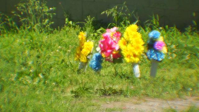 Memorial at Katie Hill home, Bessie Avenue_290112