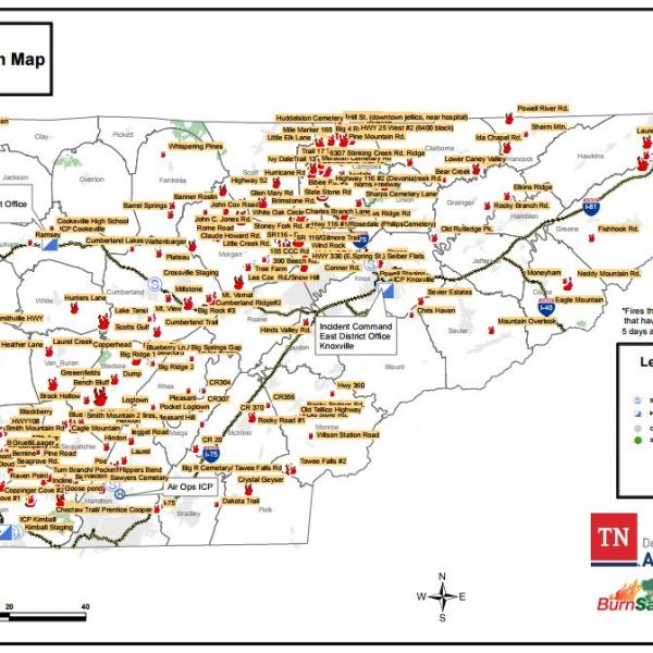 Map of fires in Tennesee_335354