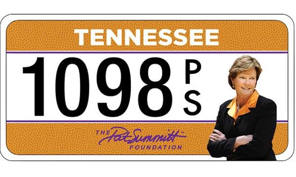 pat summitt license plate_332973