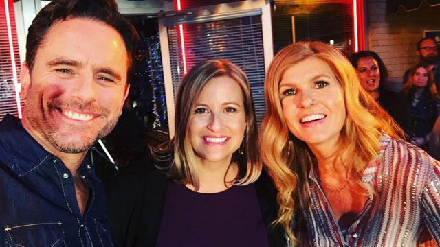 Mayor Megan Barry with Charles Esten and Connie Britton_377240