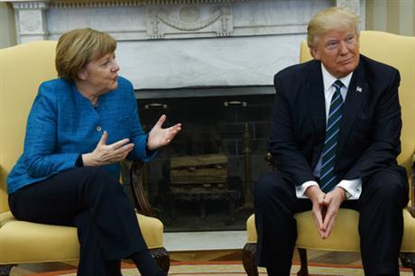 Donald Trump and Angela Murkel_388993