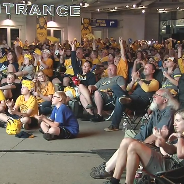 Preds fans cheer on hometown team from afar