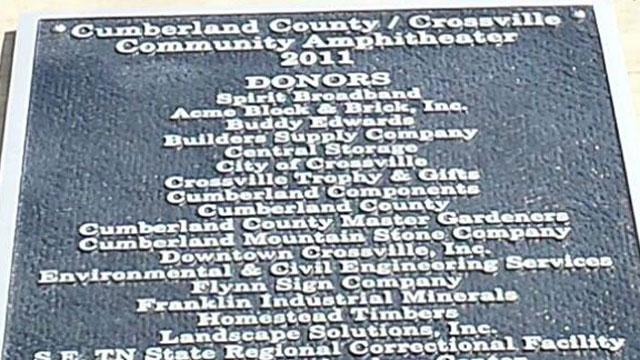 stolen plaque from crossville center_407026