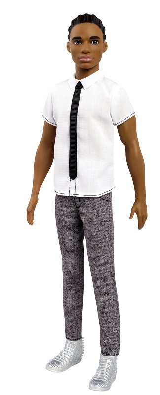 This photo provided by Mattel shows an African-American, original-style Ken doll, with cornrows. Mattel announced Tuesday, June 20, 2017, that the company is introducing 15 new looks for the male doll, giving him new skin tones, body shapes and...