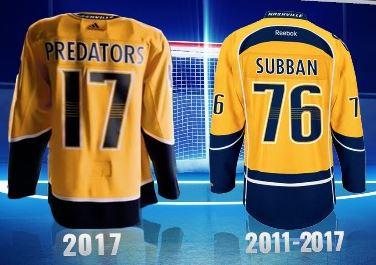 Nashville Predators get new uniform's
