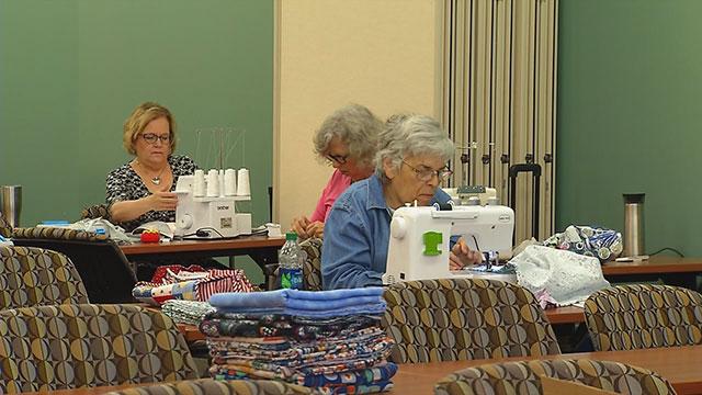 Vanderbilt Sewing Club donates items to breast cancer