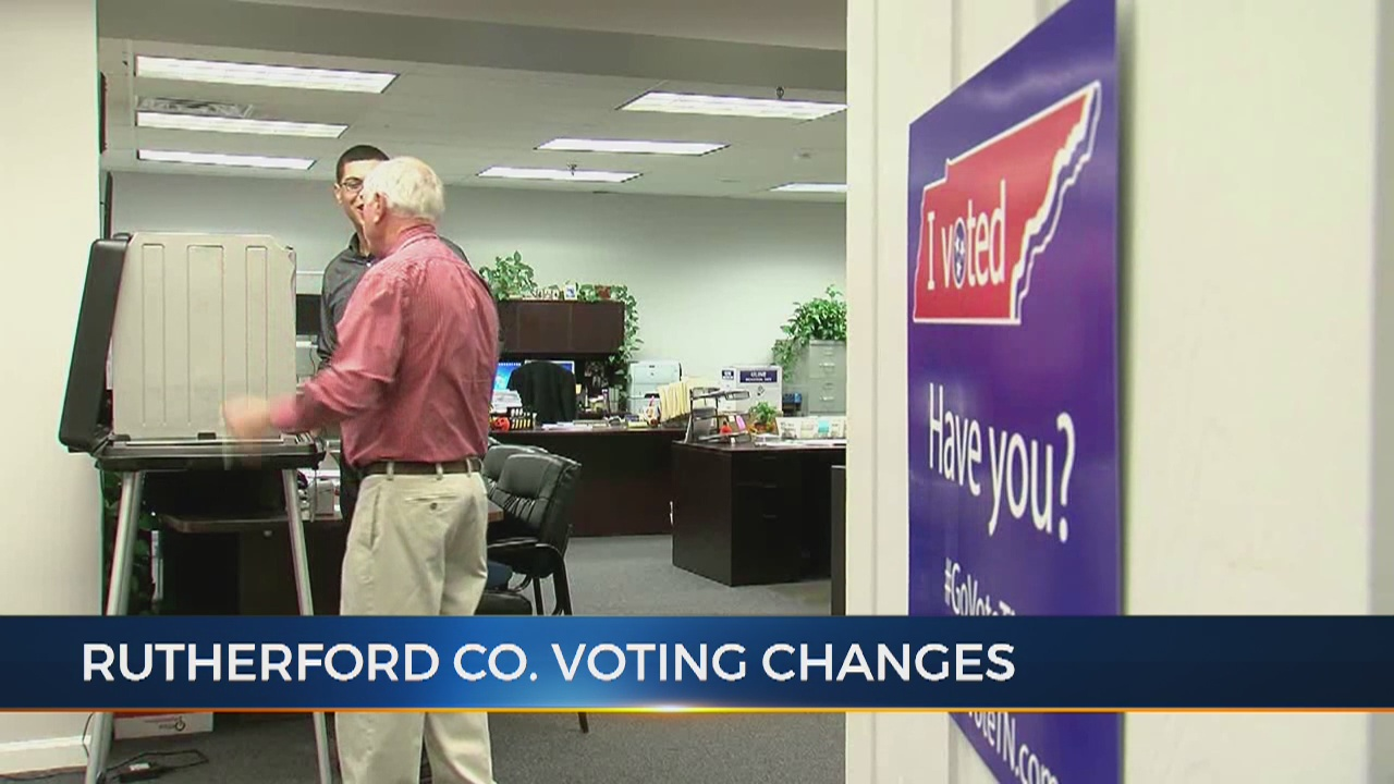 Changes on the way for how people vote in Rutherford County