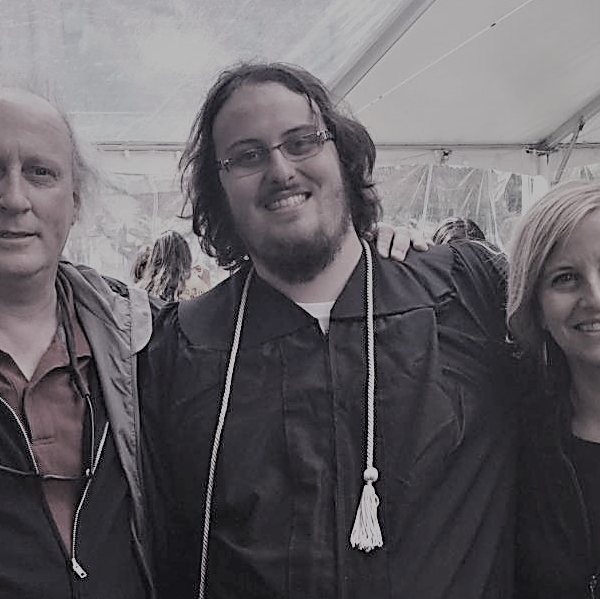 Bruce, Max, and Megan Barry at the graduation of Max Barry_429833