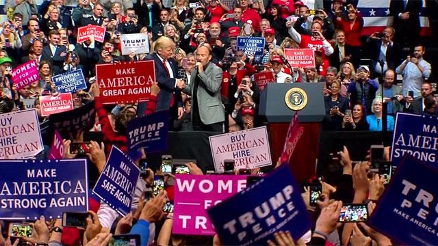 Donald Trump and Lee Greenwood_387867