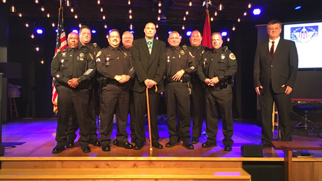 OFFICERS HONORED for saving deputy wiley_452855