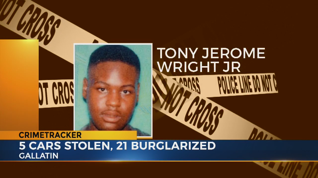 18-year-old suspect named in Gallatin car thefts, burglaries