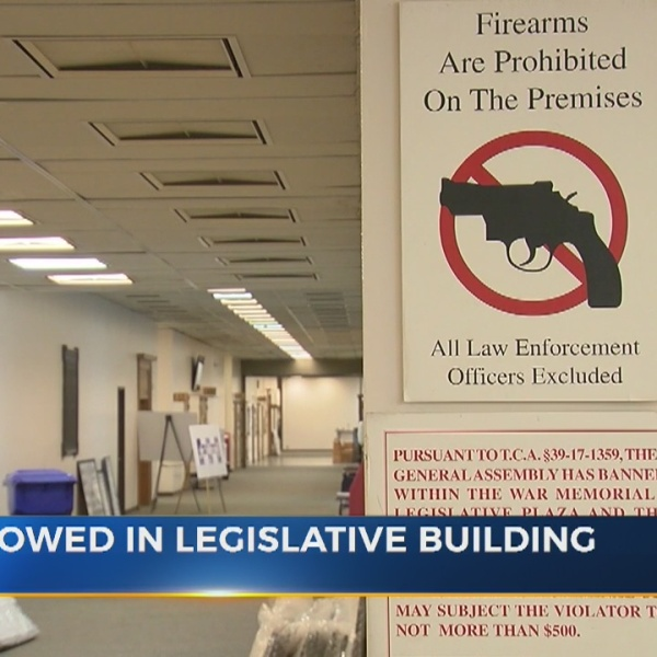 Firearms will be allowed in Tennessee General Assembly office building