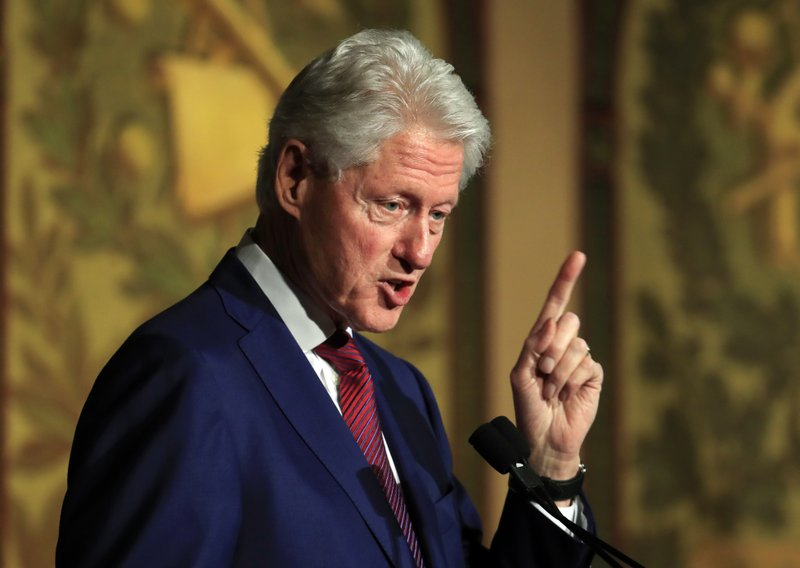 """FILE - In this Nov. 6, 2017, file photo, former President Bill Clinton speaks at a symposium in Georgetown University in Washington. Democrats have been quick to support the """"me too"""" chorus of women _ and some men _ who have stepped up to allege..."""