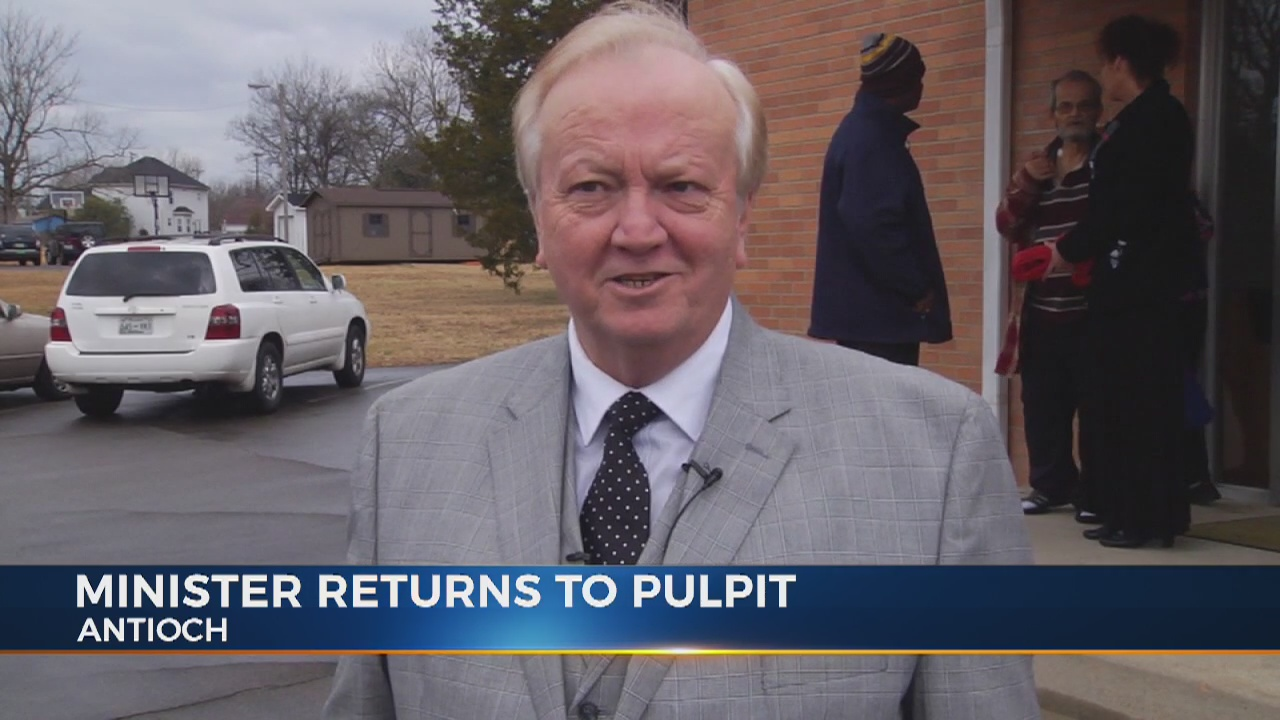 Minister shot in Antioch Church shooting returns to church