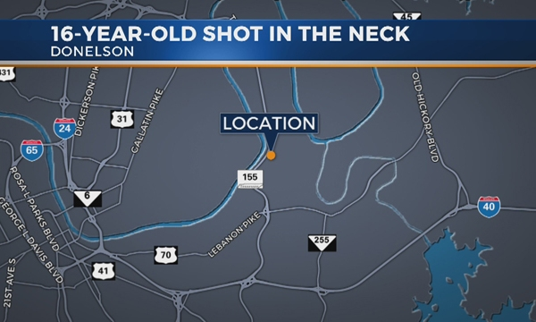 Teen shot in Donelson