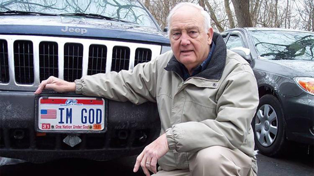 Kentucky god license plate