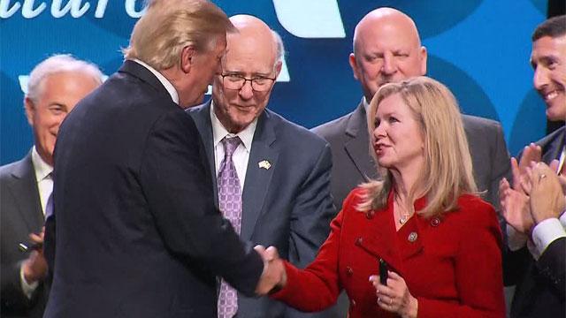 Donald Trump and Marsha Blackburn in Nashville_474986