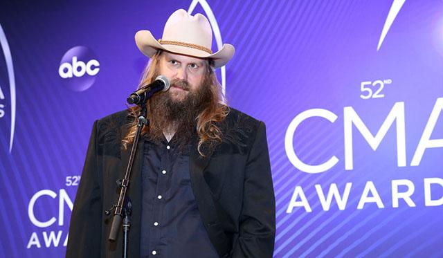 Chris Stapleton wins 3 CMA Awards