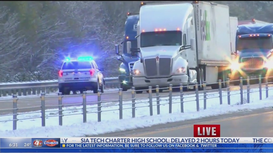 State Police try to wake up sleeping drivers on I-40 after accidents