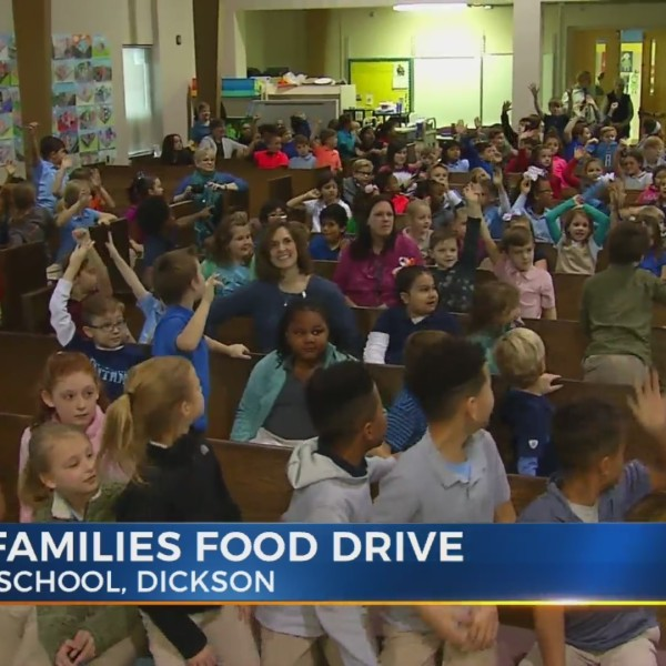 Discovery School in Dickson wins top honors in News 2 Food 2 Families Food Drive