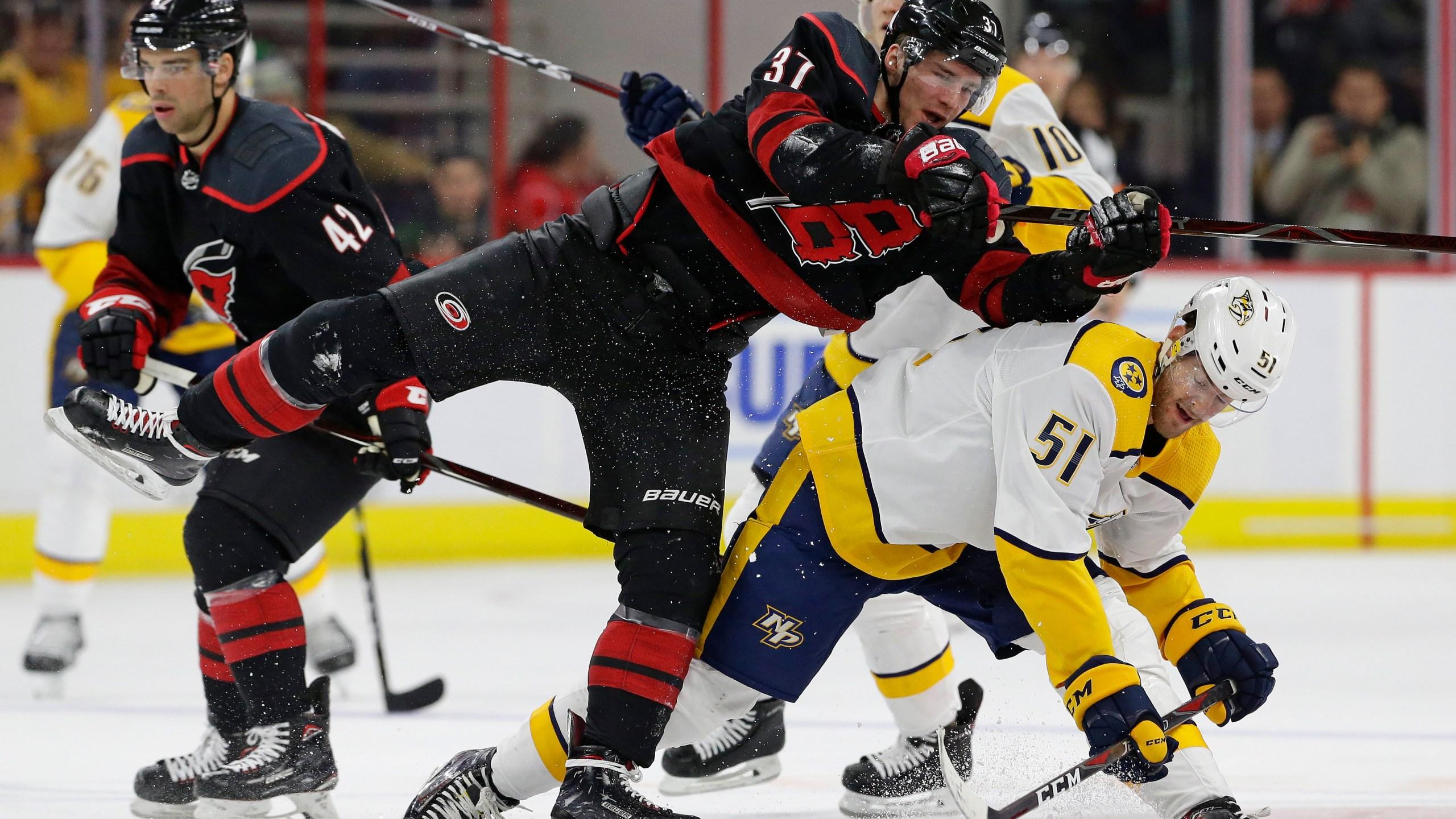 Predators Hurricanes Hockey_1547412928848