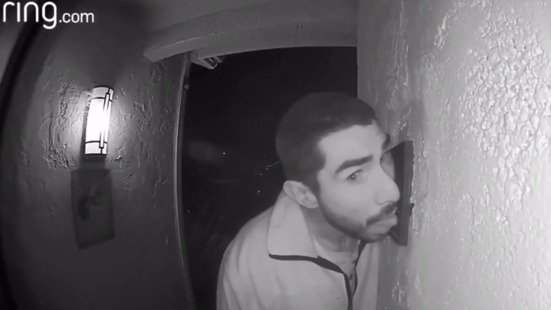 VIDEO: Police searching for man caught on camera licking family's doorbell
