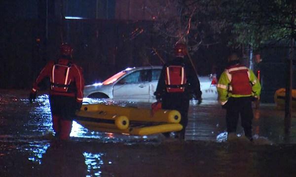 Nolensville Pike water rescue 1
