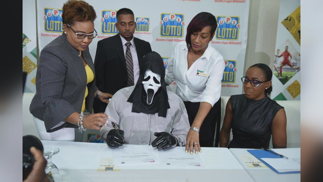 Scream mask lotto winner