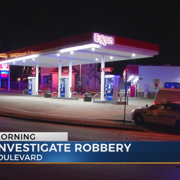 Two suspects on the run after armed robbery at gas station near Belmont