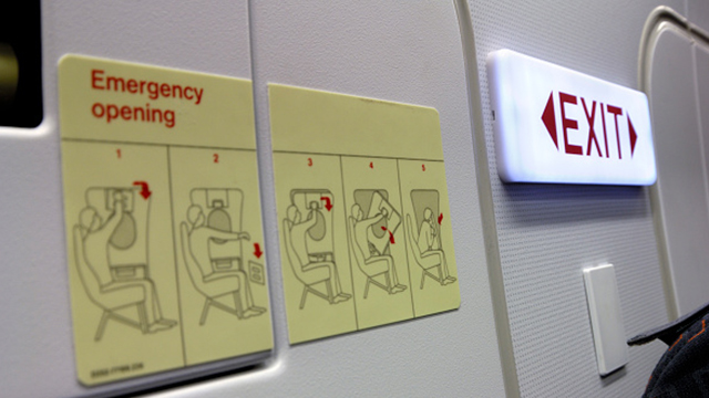 Plane emergency exit