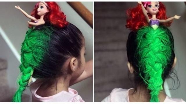Little Mermaid crazy hair day