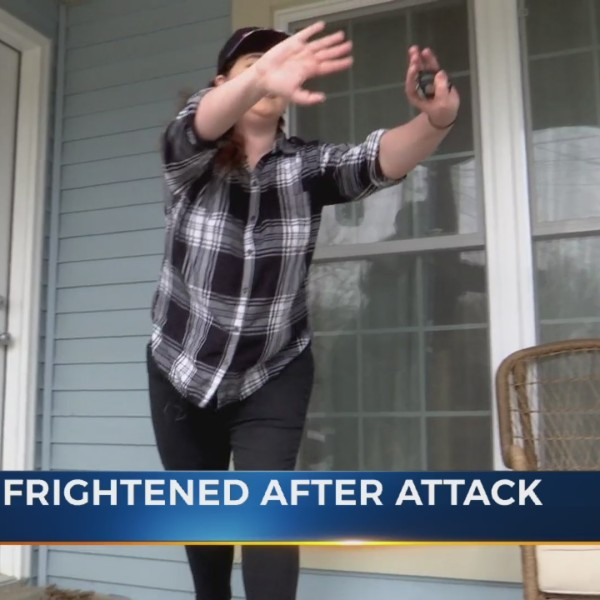 woman attacked outside her home