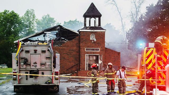 Louisiana church fire