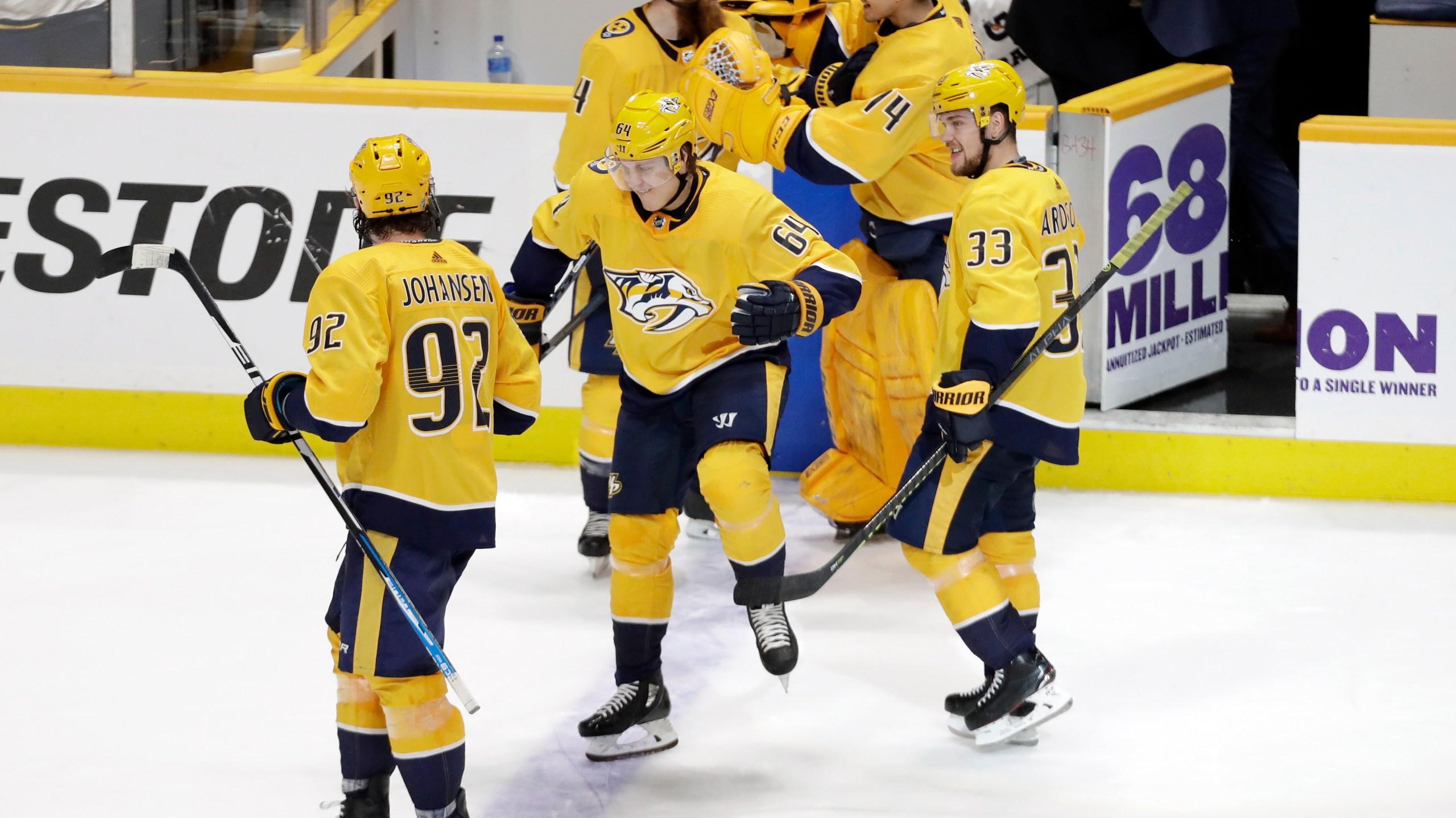 NHL releases Predators' 1st round playoff schedule