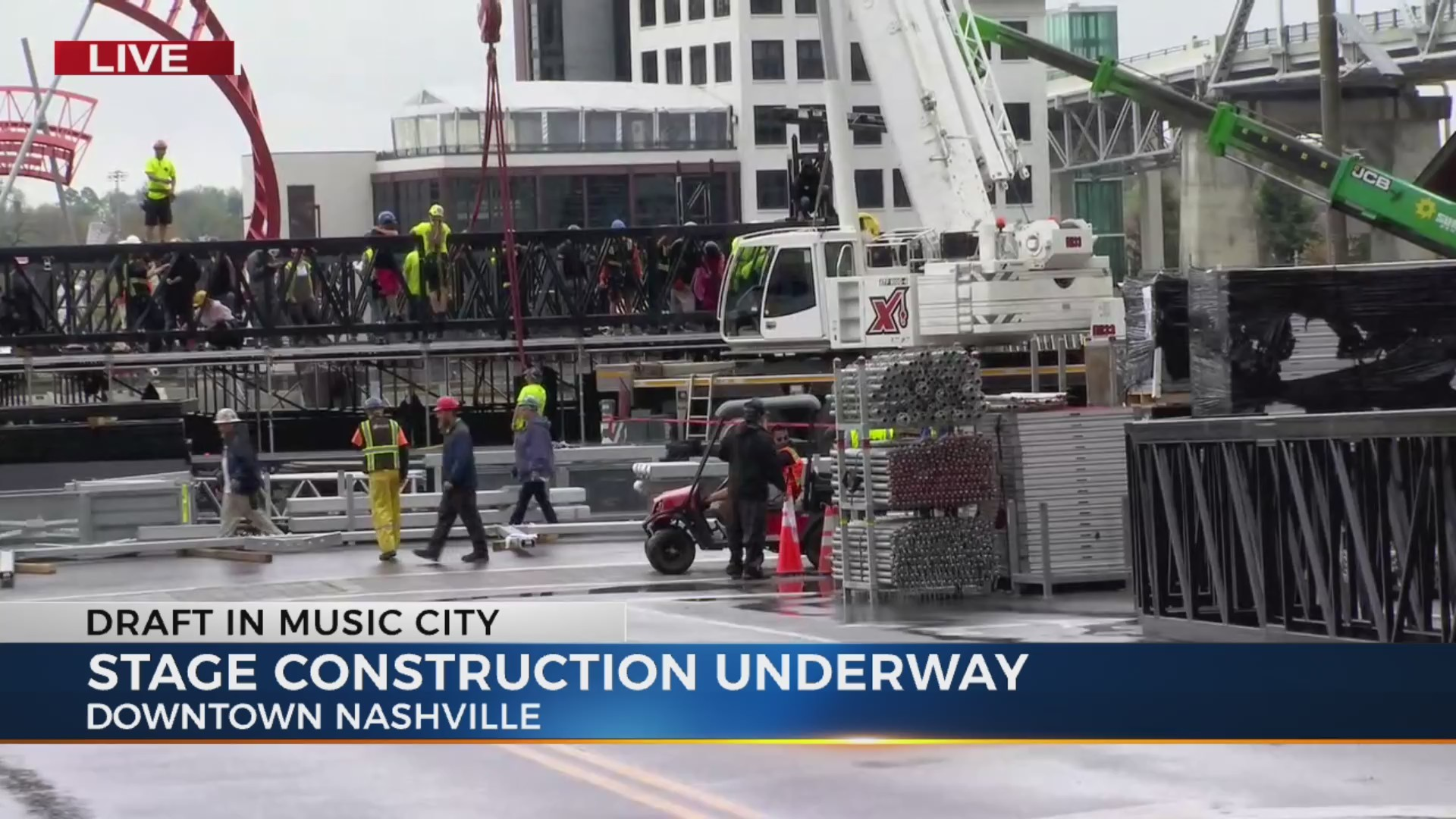 NFL Draft Stage  and road closures, severe weather plans