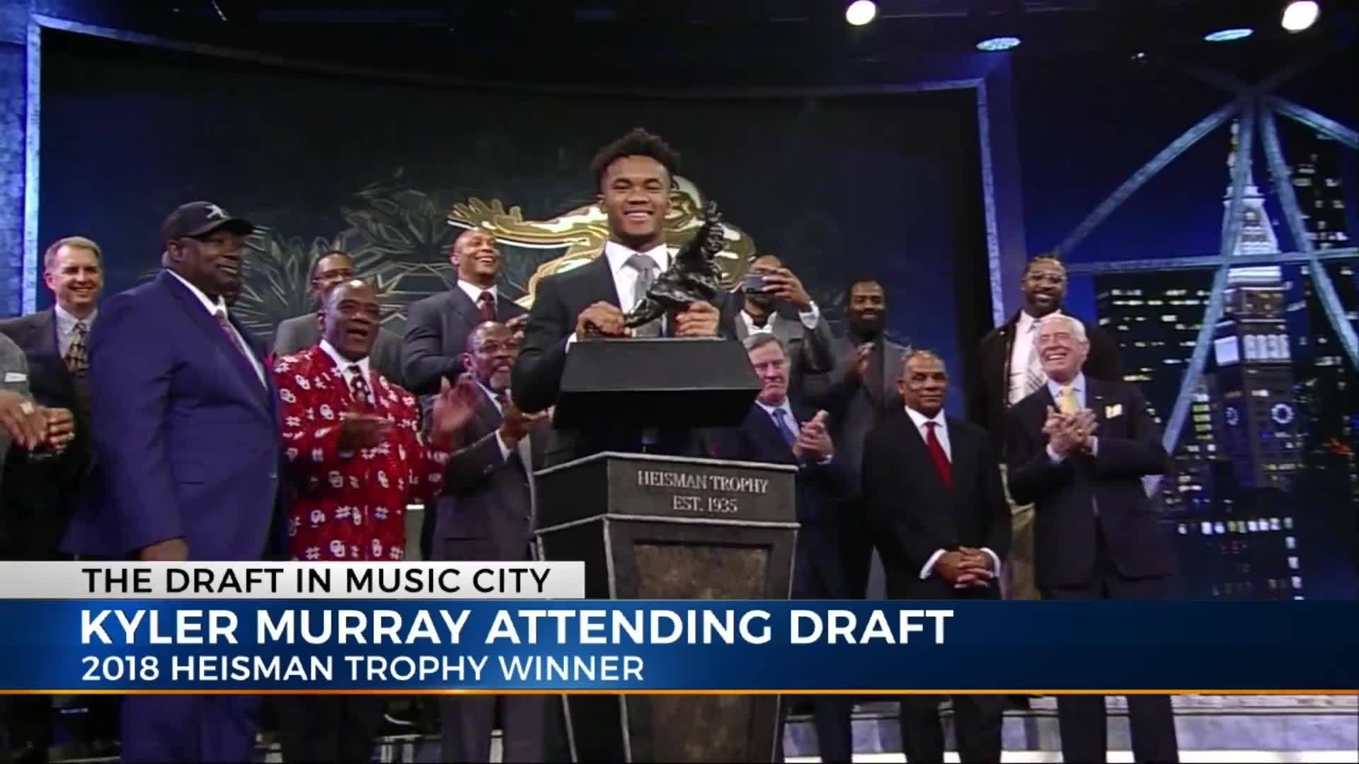 Heisman winner Kyler Murray heads list of Draft attendees