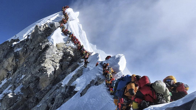 Mount Everest line