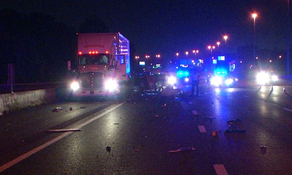 Driver injured in crash with semi on I-65