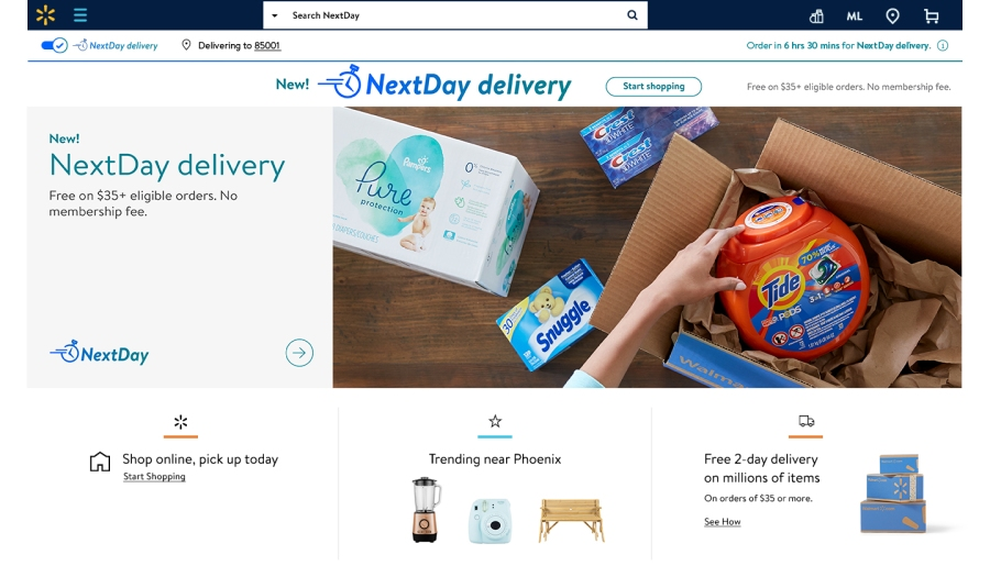 Walmart now offering free NextDay delivery service in Nashville | WKRN