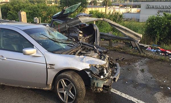 40 at Spence Lane crash