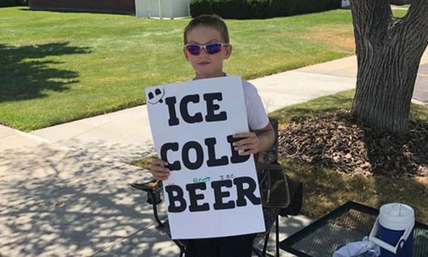 Utah boy sells root beer
