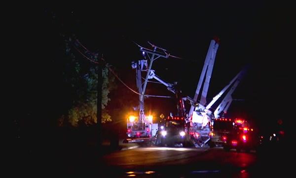 Andrew Jackson Parkway pole crash